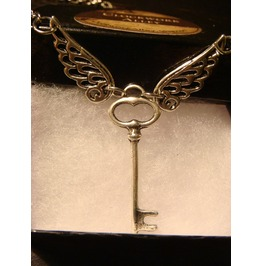 Flying Key Necklace Necklace Antique Silver