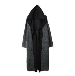 Attached Hoodie Loose Cardigan