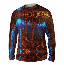 Men,S New Long Sleeve Future Fractal T Shirt