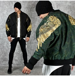 Gold Wing Embroidered Stud Sukajan Jacket 226
