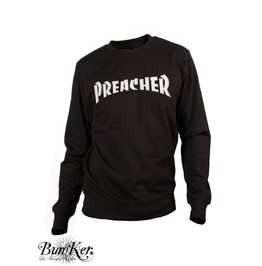 Embroidered Preacher Sweatshirt For Hell Guyz
