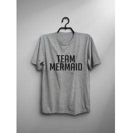 Team Mermaid T Shirt Women Funny Saying Graphic Tee Printed Tops