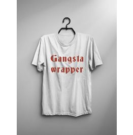 Gangsta Wrapper Funny Saying T Shirt For Women Graphic Tee Christmas Gifts