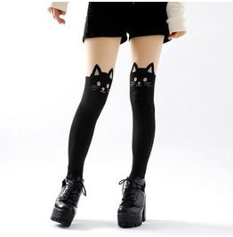 Cat tights medias gato wh209 hosiery and garters