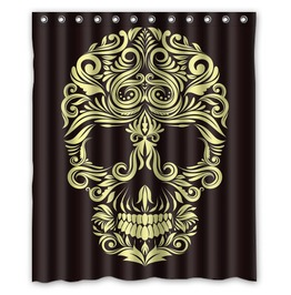 Sugar Skull Gothic Shower Curtain