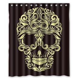 Sugar Skull Gothic Shower Curtain