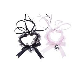 Rebelsmarket harajuku lace bell bow choker ties and neckwear 7