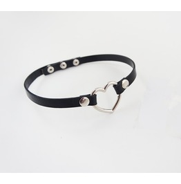 Heart Shape Cowhide Choker