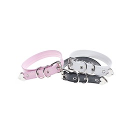 Harajuku Pu Adjustable Belt Choker