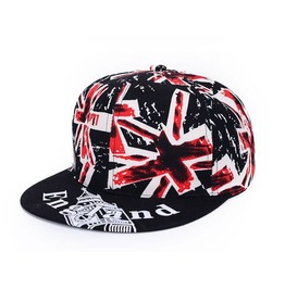 Uk British Union Jack Flag Hat Hip Hop Cap Black A28