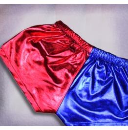 Harley Quinn Shorts . Metallic Spandex Shorts