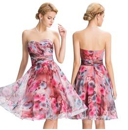 Xmas Princess Women Chiffon Floral Style Bridesmaid Dress