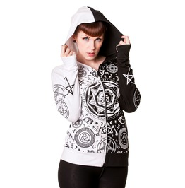 Women Living Dead New White&Black Hoddie