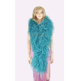 "Teal 20 Plys Full And Fluffy Luxury Ostrich Feather Boa 71""Long (180 Cm)"