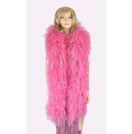 """Coral Red 20 Plys Full And Fluffy Luxury Ostrich Feather Boa 71"""" (180 Cm)"""