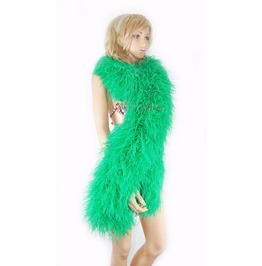"""Emerald Green 20 Plys Fluffy Luxury Ostrich Feather Boa 71"""" Long (180 Cm)"""