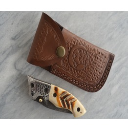 Handmade Damascus Folding Knife