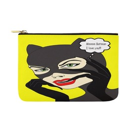 Funky Catwoman Loves Batman Art Canvas Bag