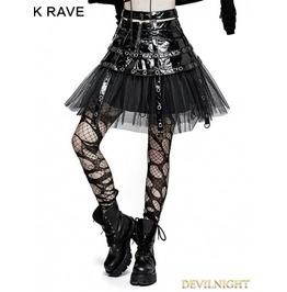 Black Gothic Punk Japanese Style Short Skirt Q 307