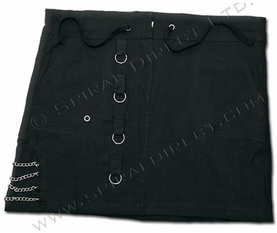 Spiral Black Chained Mini Skirt Gothic Punk Emo Rock_Skirts_2.jpg