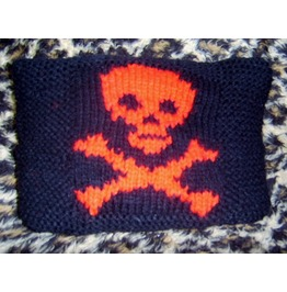Black Red Skull Crossbones Design Cushion Gothic