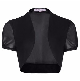 Women's Short Sleeve Slim Chiffon Bolero Jacket