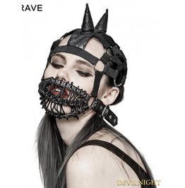 Gothic Punk Beanie Hat With Mask S 201