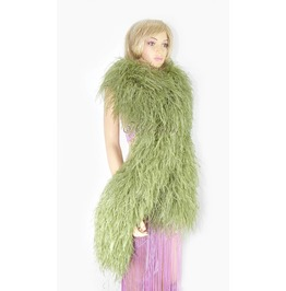 "Olivedrab 20 Plys Fluffy Luxury Ostrich Feather Boa 71"" Long (180 Cm)"