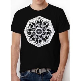 "Mens Black T Shirt With ""Dream"" Design Printed In White Ink"