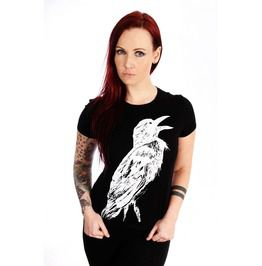 Crow women shirt black t shirts