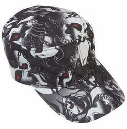 Red Eye Skull Hat Cap