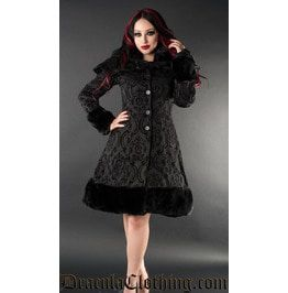 Brocade Thick Winter Coat