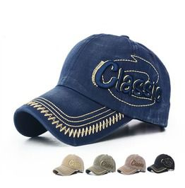 6c370cfdfb4b6 Unisex 3 D Letter Embroidery Vintage Caps Washed Distress Baseball Cap
