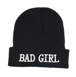919d8f0be35 Wool Winter Men Women Cap Bad Boy Bad Girl Beanies Hats Black