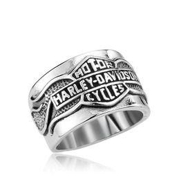 Mens motor harley davidson cycles carved rings rings