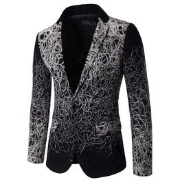 Men's Casual One Buttons Slim Fitted Premium Suit Jacket