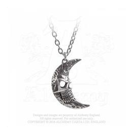 Moon Pendant Necklace Alchemy Gothic Skull Tragic Alternative