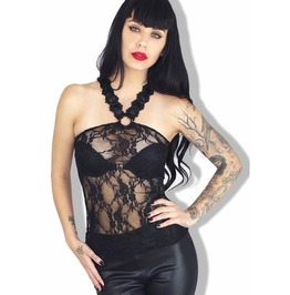 Sale! Sexy Women's Lace Pinup Burlesque Gothic Lolita Vegas Tank Top