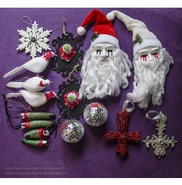 Evil Holiday Ornaments Creepy Horror Bloody Zombie Art By Lady Alchemy13