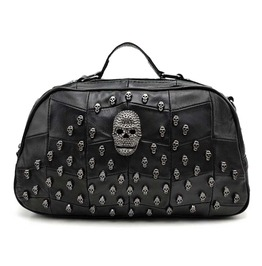 Hand Bag With Skull Studs