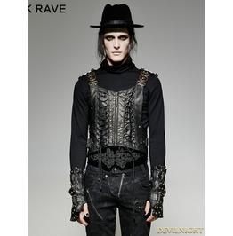 Gothic Bronze Army Uniform Interlocks Stringing Vest For Men Y 725 Mbk Br