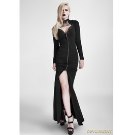 Black Gothic Heavy Punk Long Dress Q 301