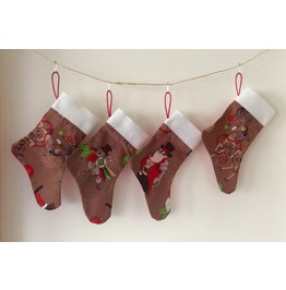 Monogrammed Handmade Steampunk Mini Christmas Stocking Personalized