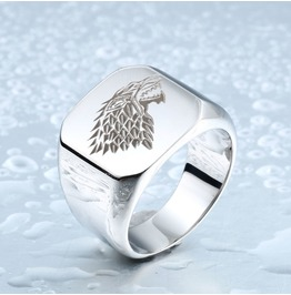 Mens Stainless Steel Game Of Thrones House Start Ring