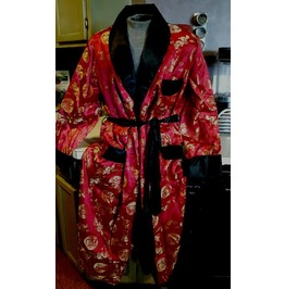 Rare Vintage Asian Steampunk Fetish Robe With Dragons