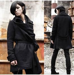 Street Fashion Men Woolen Single Breasted Coats