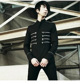 New Fashion Runway Black Slim Fit Napoleon Jacket