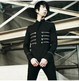 New Fashion Runway Black Slim Fit Napoleon Jacket