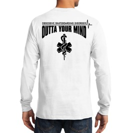 """Osd """"Outta Your Mind"""" Long Sleeve 100% Cotton Tee"""