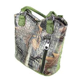 Green Western Studded Rhinestone Conceal Carry Camo Cross Bag